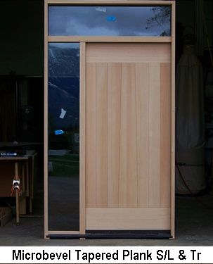 Contemporary Microbevel Entry Door Sidelite Transom