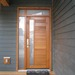 Contemporary Microbevel Vertical Lite Door Sidelite Transom