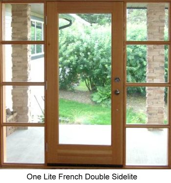Exterior French Door Double Sidelite