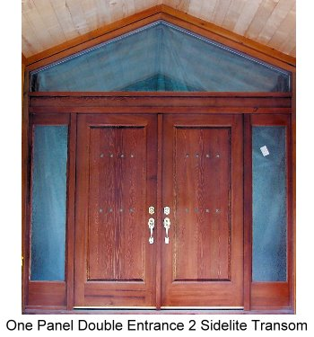One Panel Double Sidelite Transom