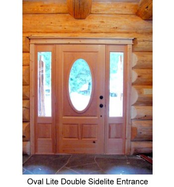 OvalLite Entrance Door Double Sidelite