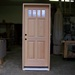 Raised Panel 4 Lite VG Fir Door